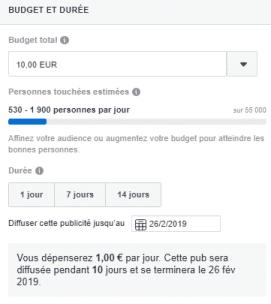 tuto publicité facebook débutant budget