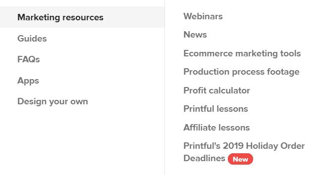 printful ressource