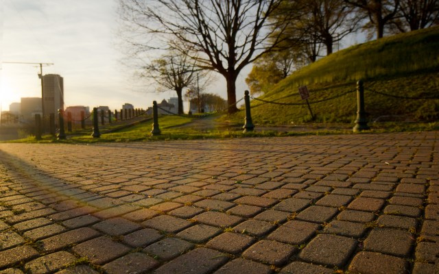 brick walkway church hill