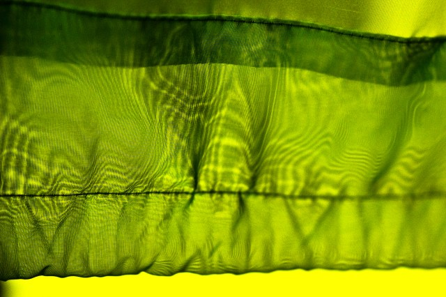 green cloth moire