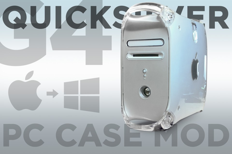 G4 quicksilver pc case mod title