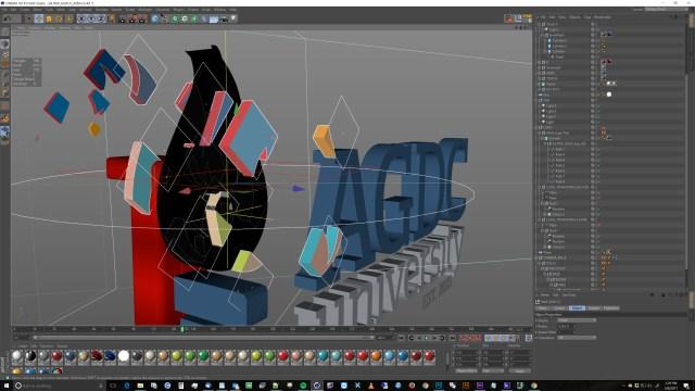 AGDC University logo animated cinema 4d