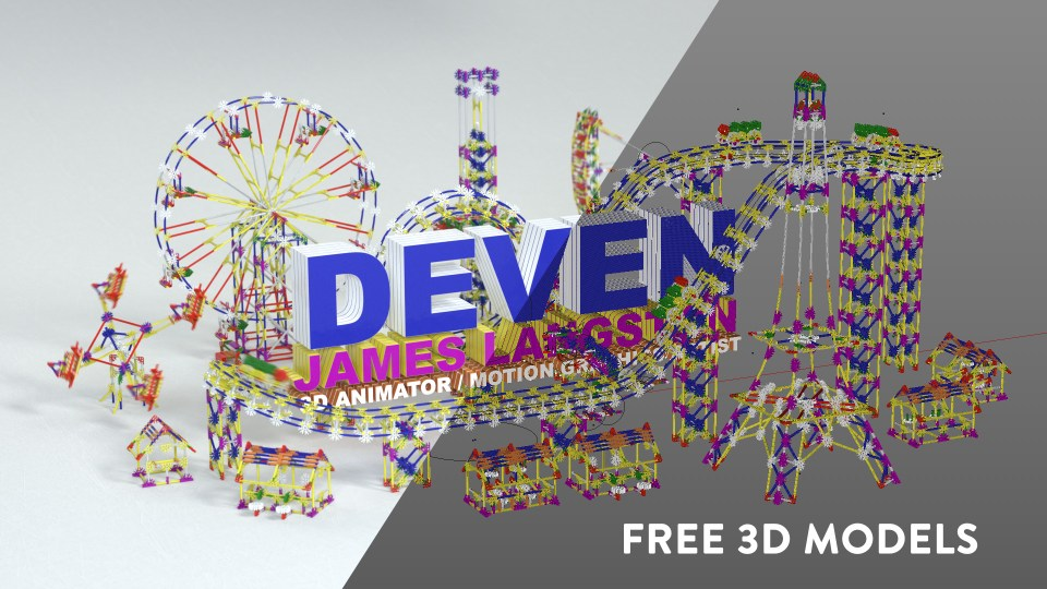 FREE Knex 3D models and C4D scene files