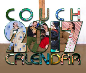 couch couple calendar 2017