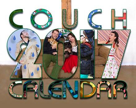 couch couple calendar 2017