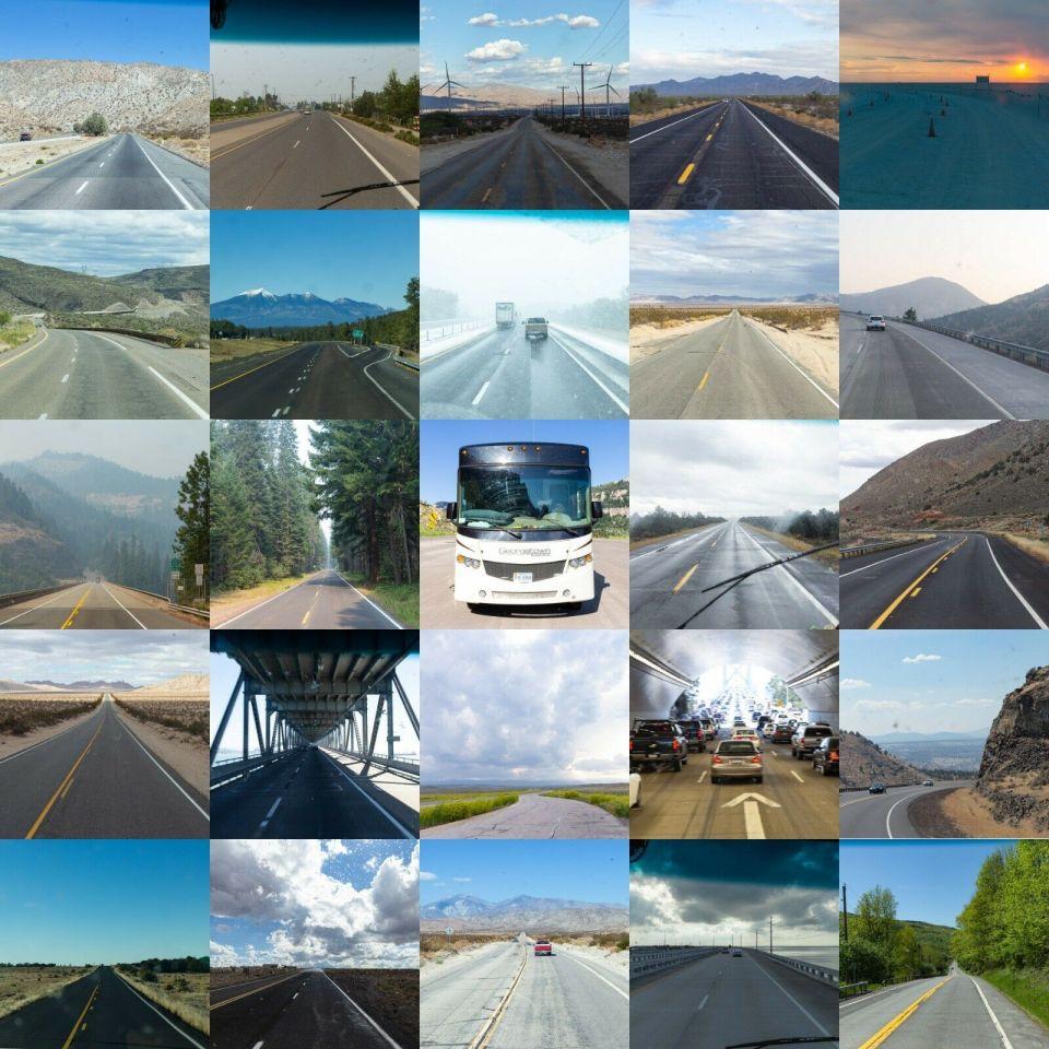 RV roads traveled