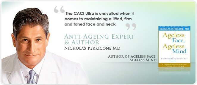 CACI non-surgical face lift treatment - Nicholas Perricone, MD, author of Ageless Face, Ageless Mind