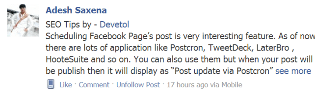 """How to add """"see more"""" link on Facebook Post"""
