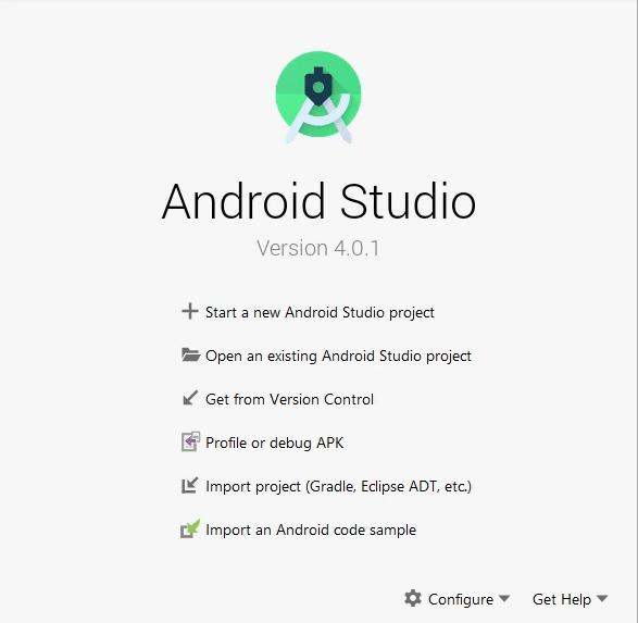 Crear nuevo proyecto en Android Studio