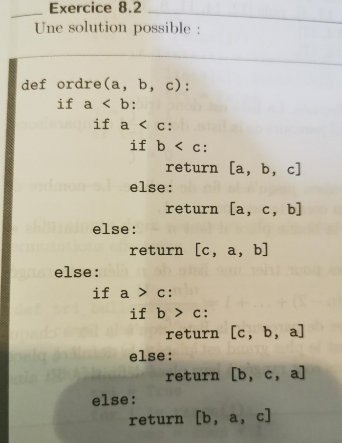 Nicest way to sort 3 numbers :)