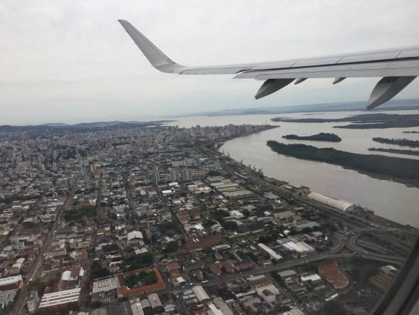 Despegando de Porto Alegre