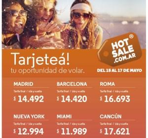 ofertas aerolíneas argentinas hotsale
