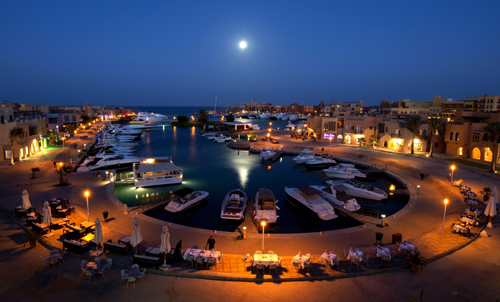 World___Egypt_Night_at_the_port_resort_of_El_Gouna__Egypt