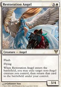 """Carta de Magic TCG """"Restoration Angel"""""""