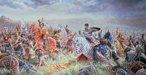 """Quadro """"Batalha de Bannockburn"""" Batalha que deu origem à Escócia independente (autor desconhecido)"""