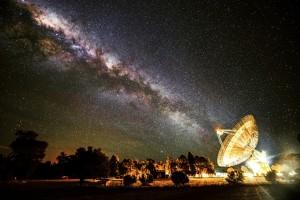 O Radiotelescópio Parkes do CSIRO.