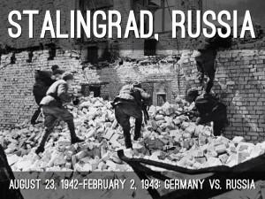 Combate em meio às ruínas de Stalingrado