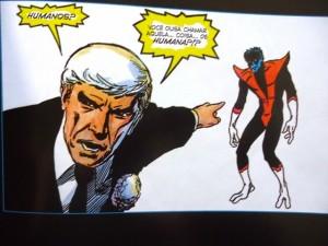 """Nightcrawler (Noturno) sendo acusado de """"não humano"""" por sua mutação"""