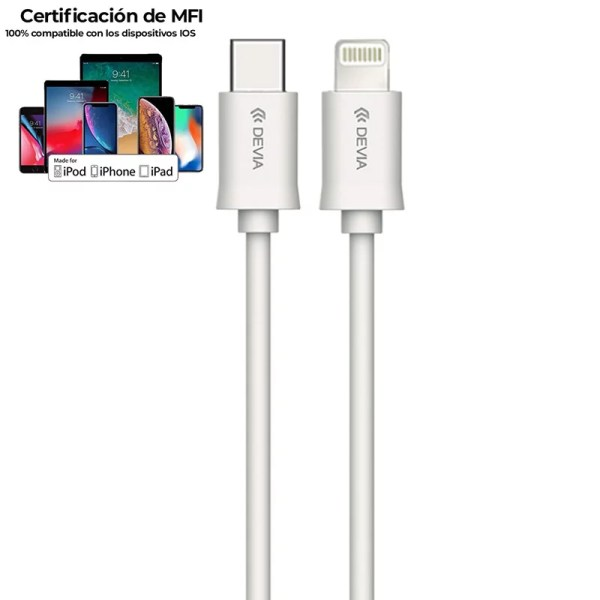 Cable Smart Series Tipo C - Lightning MFI (20 3A, 1M)