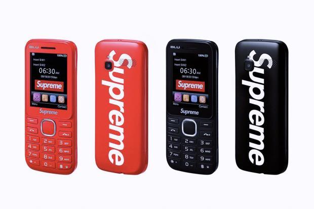 Supreme объединится с BLU для запуска телефона Supreme/Blu Burner