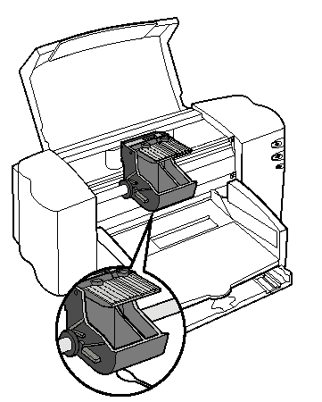 Carruaje de movimiento en la impresora.
