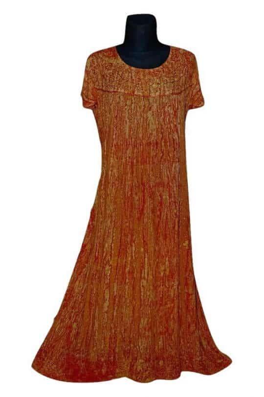 Extra nagy méretű hosszú ruhák Indiából 2704-bordó