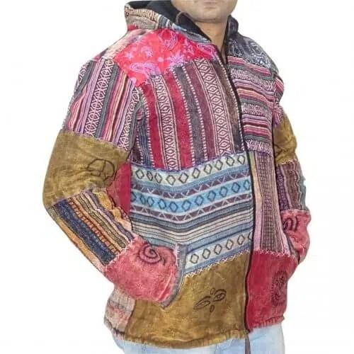 unisex férfi kabát több színes csíkos kockás mintával