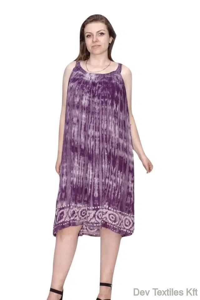 Elegáns pántos ruha egyenes szabású lila