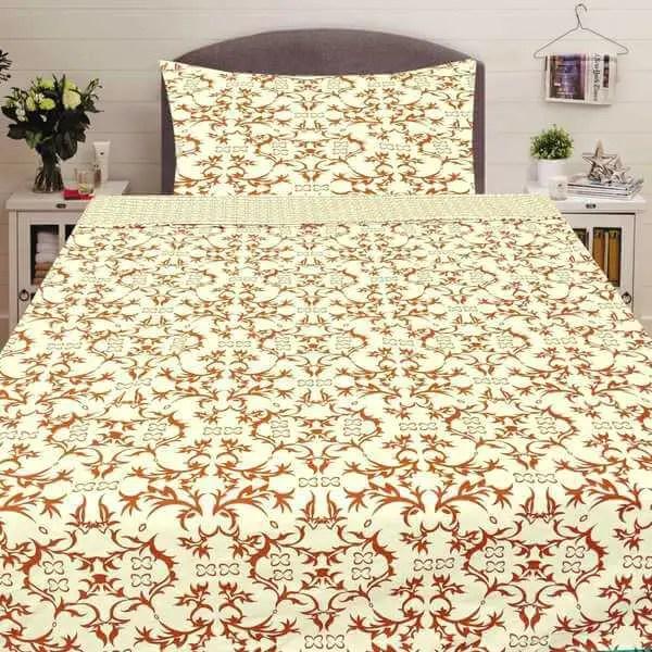 Pamut ágynemű krém színben hangulatos minta