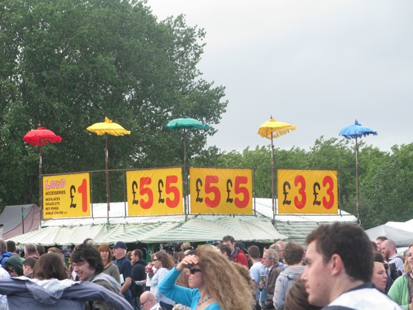 Umbrella stall at the London Feis, 2011