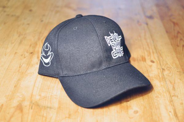 Black logo ballcap with white embroidery