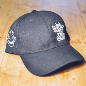 Black logo ballcap with white embroidery