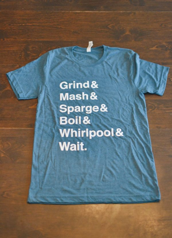 Steel blue men's t-shirt