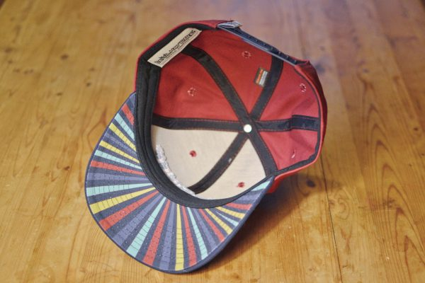 Starstuff ballcap - crimson red inside view
