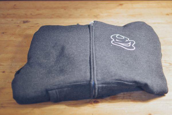 Zip Hoodie - Charcoal front view