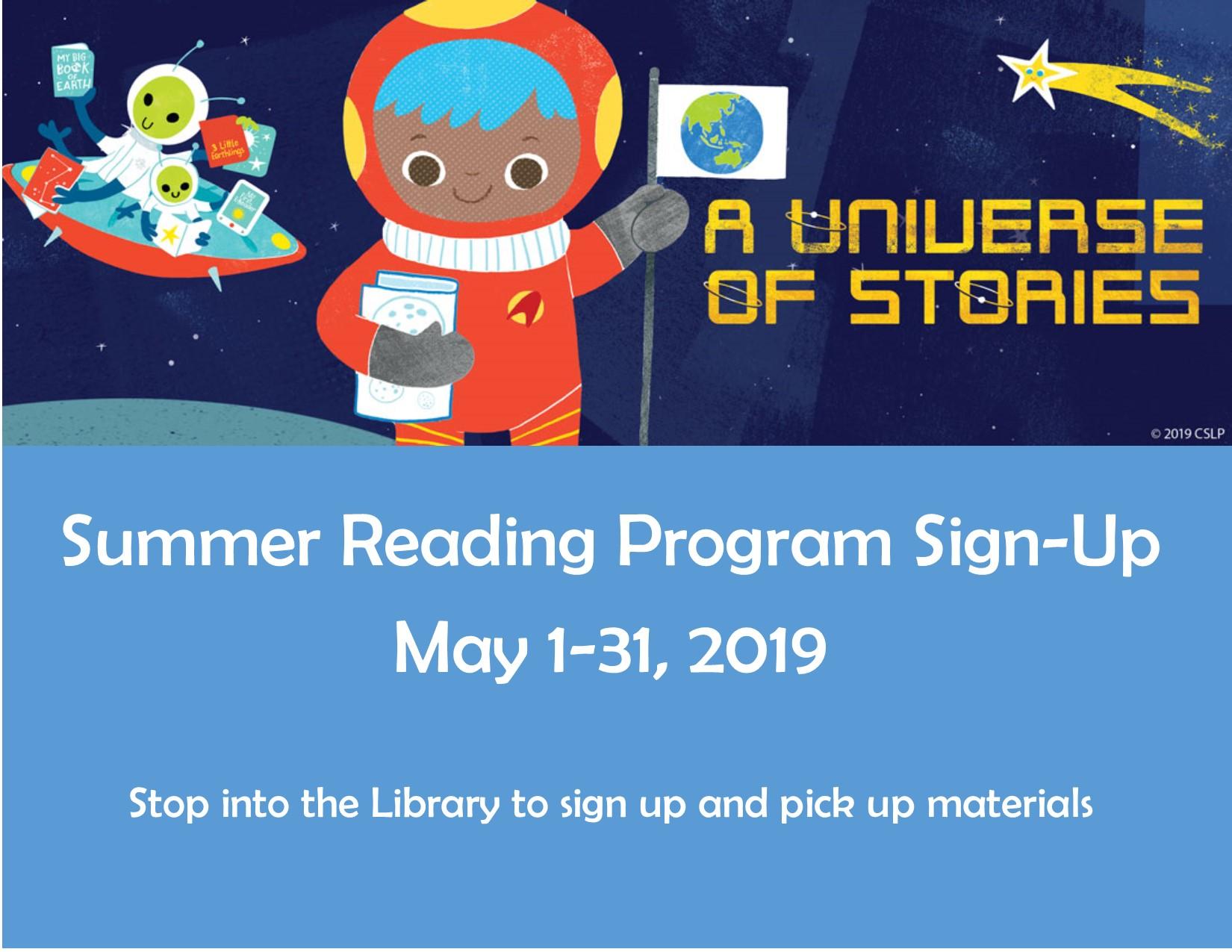 Summer Reading Program Sign-Up