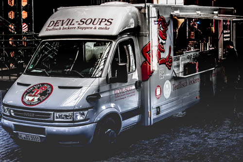Der Devil Soups Foodtruck in Hamburg