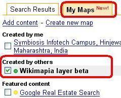 Enable Disable Mapplets on Google Maps