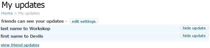 Orkut - My Updates