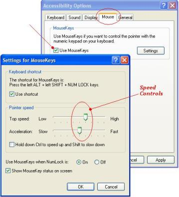 keyboard mouse - mouse pointer settings