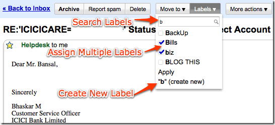 Gmail New Labels Feature