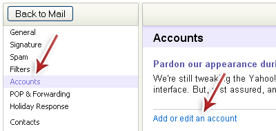 Integrate Multiple Yahoo Mail Accounts Into A Single Account