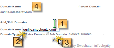 Add the domain to Zymic host