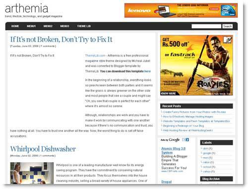 arthemia-blogger-template