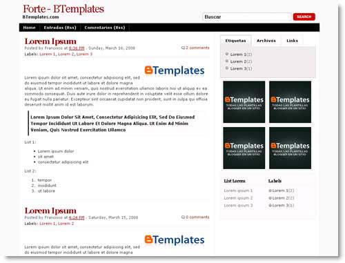 forte-blogger-template