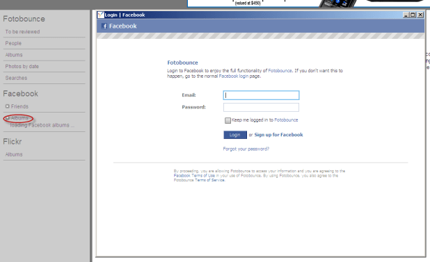 FotoBounce: Download Facebook Albums onto PC