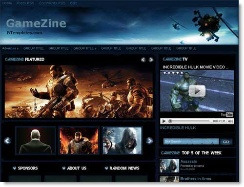 gamezine-blogger-template-blogspot