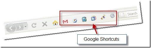 Google shortcuts add-on live image