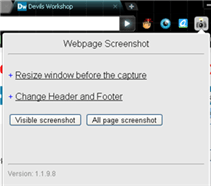 webpage screenshot extension