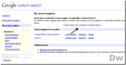google custom search_mod